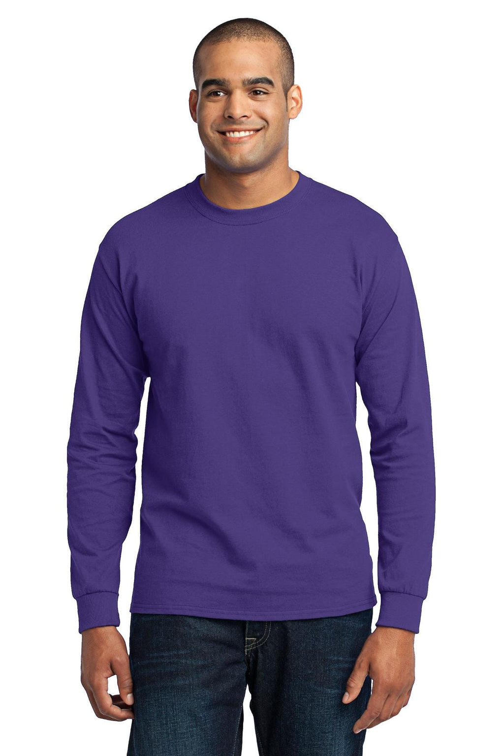 Port & Company 50/50 Poly/Cotton Tall Long Sleeve Tee-1
