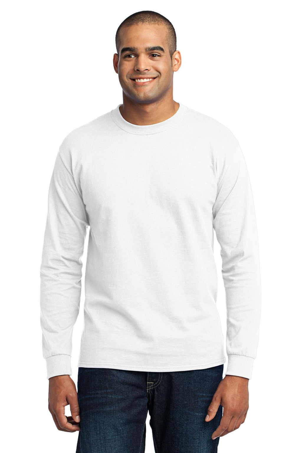 Port & Company 50/50 Poly/Cotton Long Sleeve Tee-1
