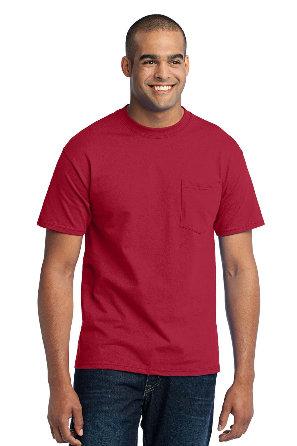 Port & Company 50/50 Poly/Cotton Pocket Tee-1
