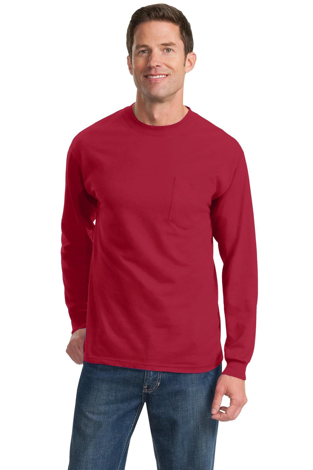 Port & Company Tall Long Sleeve Essential T-Shirt with Pocket-1
