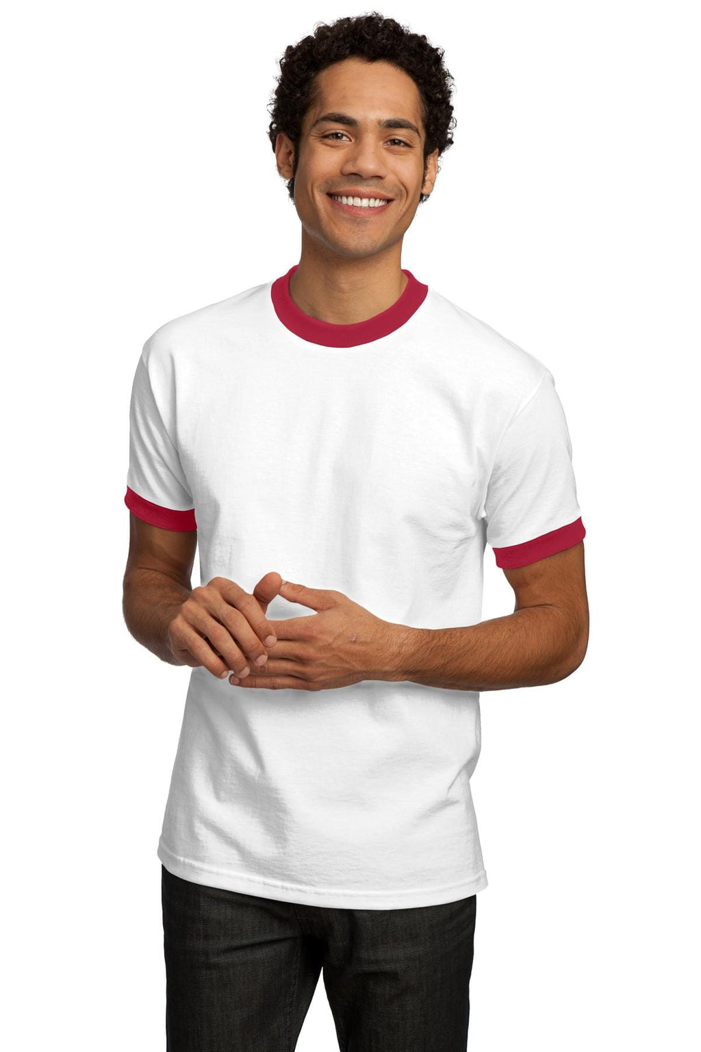Port & Company Ringer T-Shirt Closeout-3