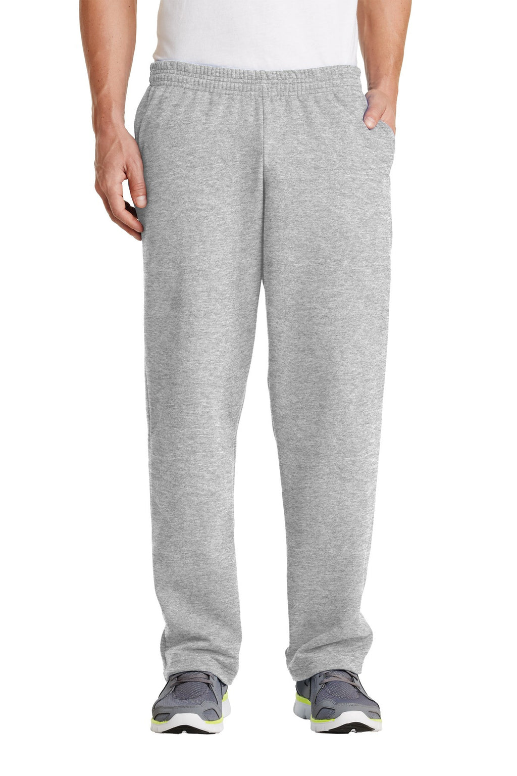 Port & Company Classic Open Bottom Sweatpant With Pockets-1