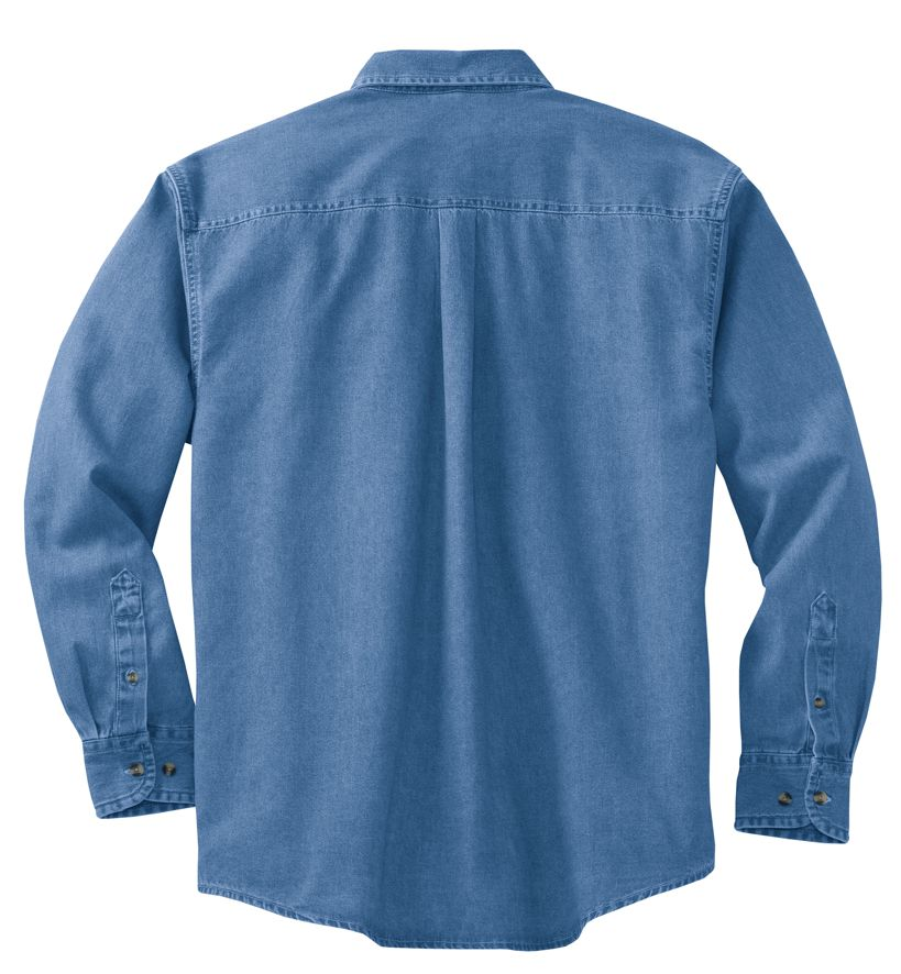 Port & Company Long Sleeve Denim Shirt-3