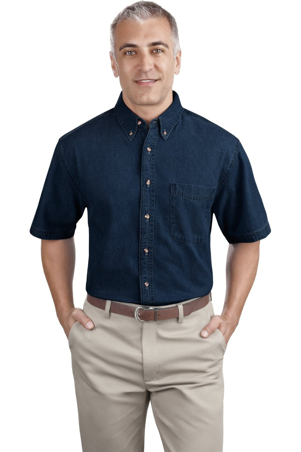 Port & Company Short Sleeve Value Denim Shirt-2