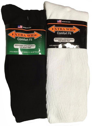 King Size Extra Wide Athletic Crew Sock
