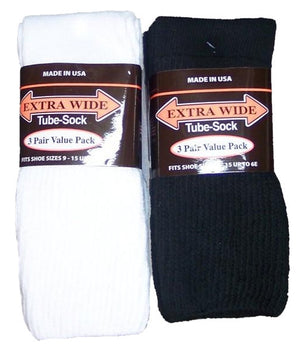 King Size Extra Wide Tube Sock (3Pr Pack)