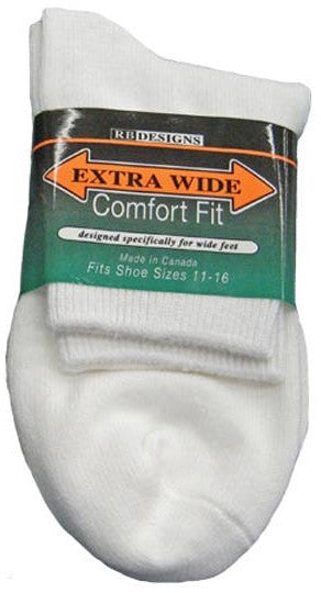 King Size Extra Wide 1/4 Crew Sock