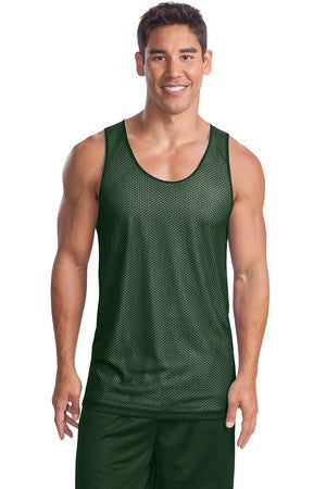 Sport-Tek Men's Reversible Mesh Tank Top Closeout-2