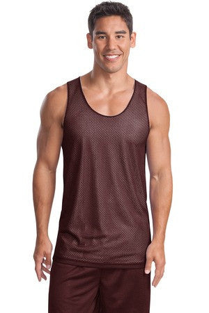 Sport-Tek Men's Reversible Mesh Tank Top Closeout