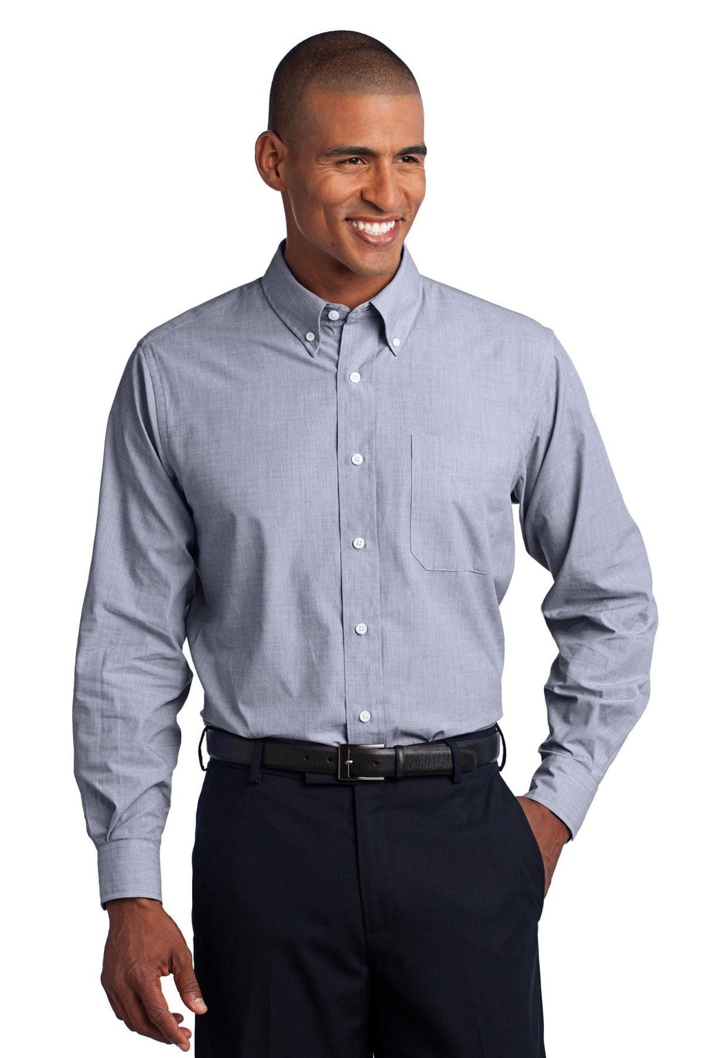 Port Authority Tall Crosshatch Easy Care Shirt-1