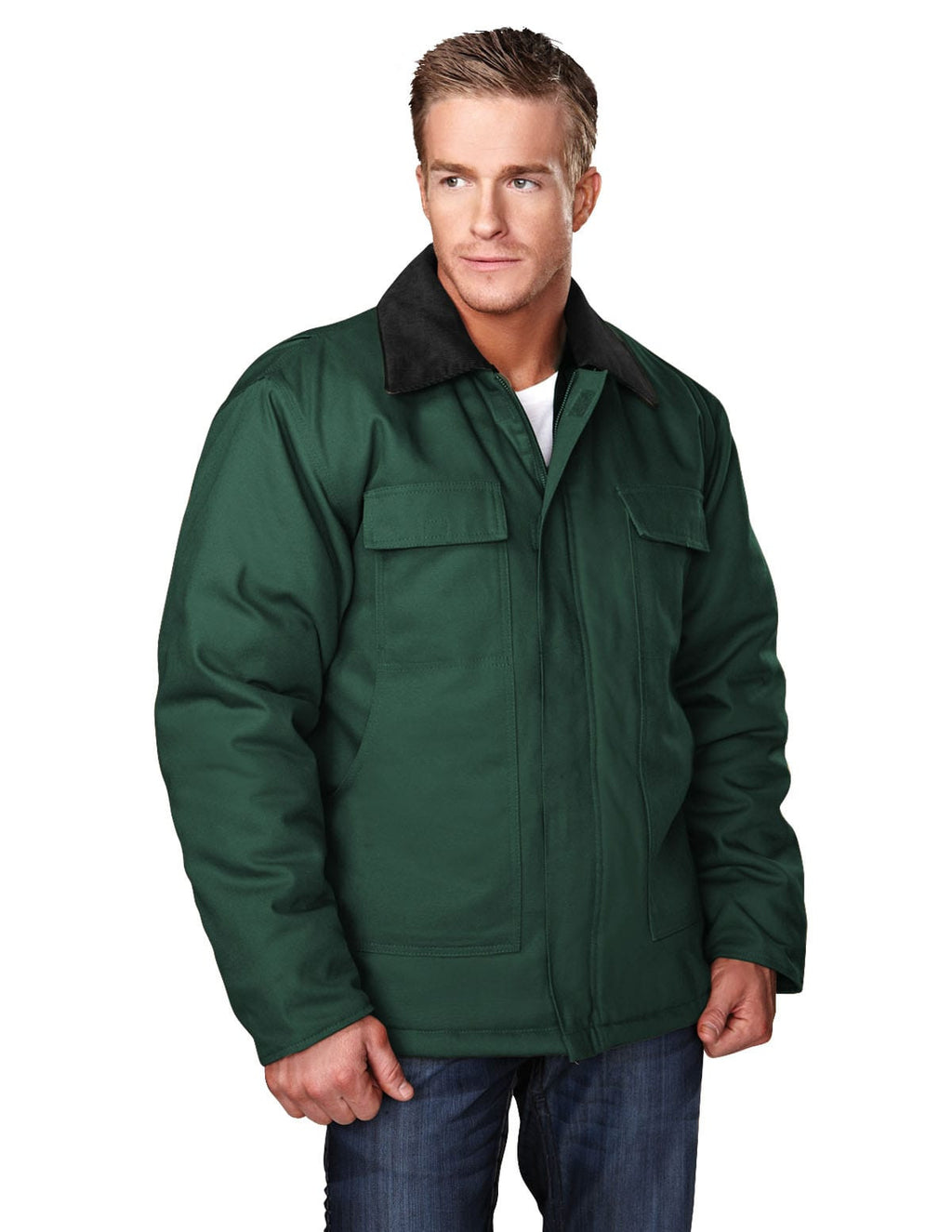 Tri-Mountain Hip-Length Canvas Jacket-5
