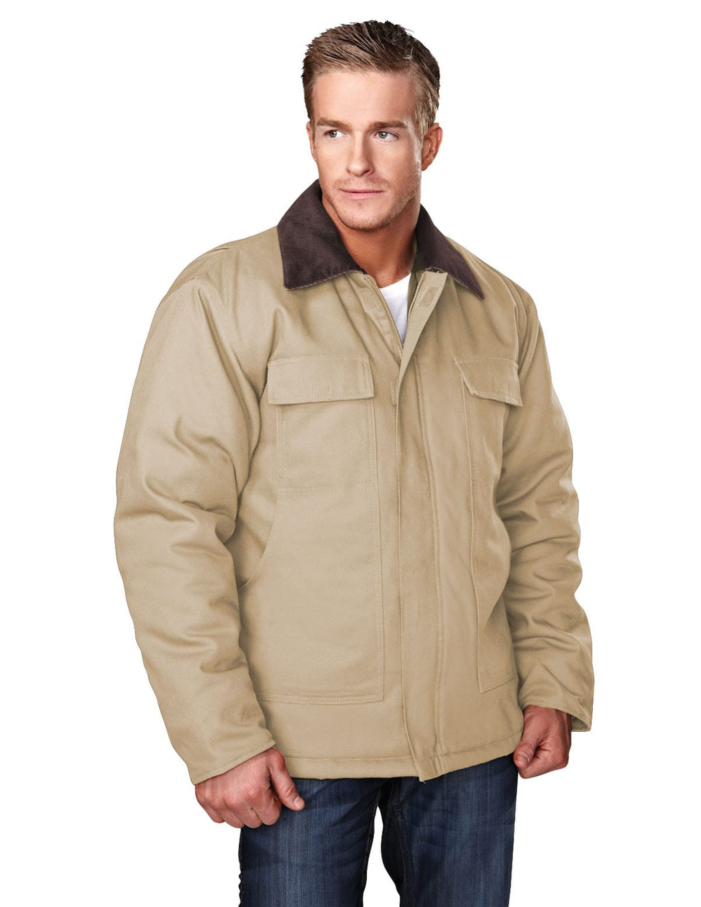 Tri-Mountain Hip-Length Canvas Jacket-2