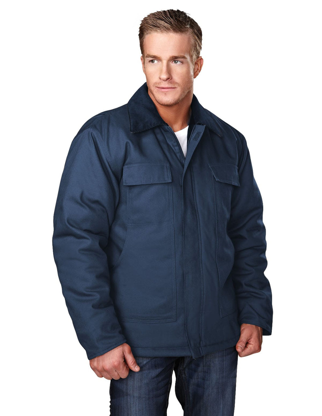 Tri-Mountain Hip-Length Canvas Jacket-3