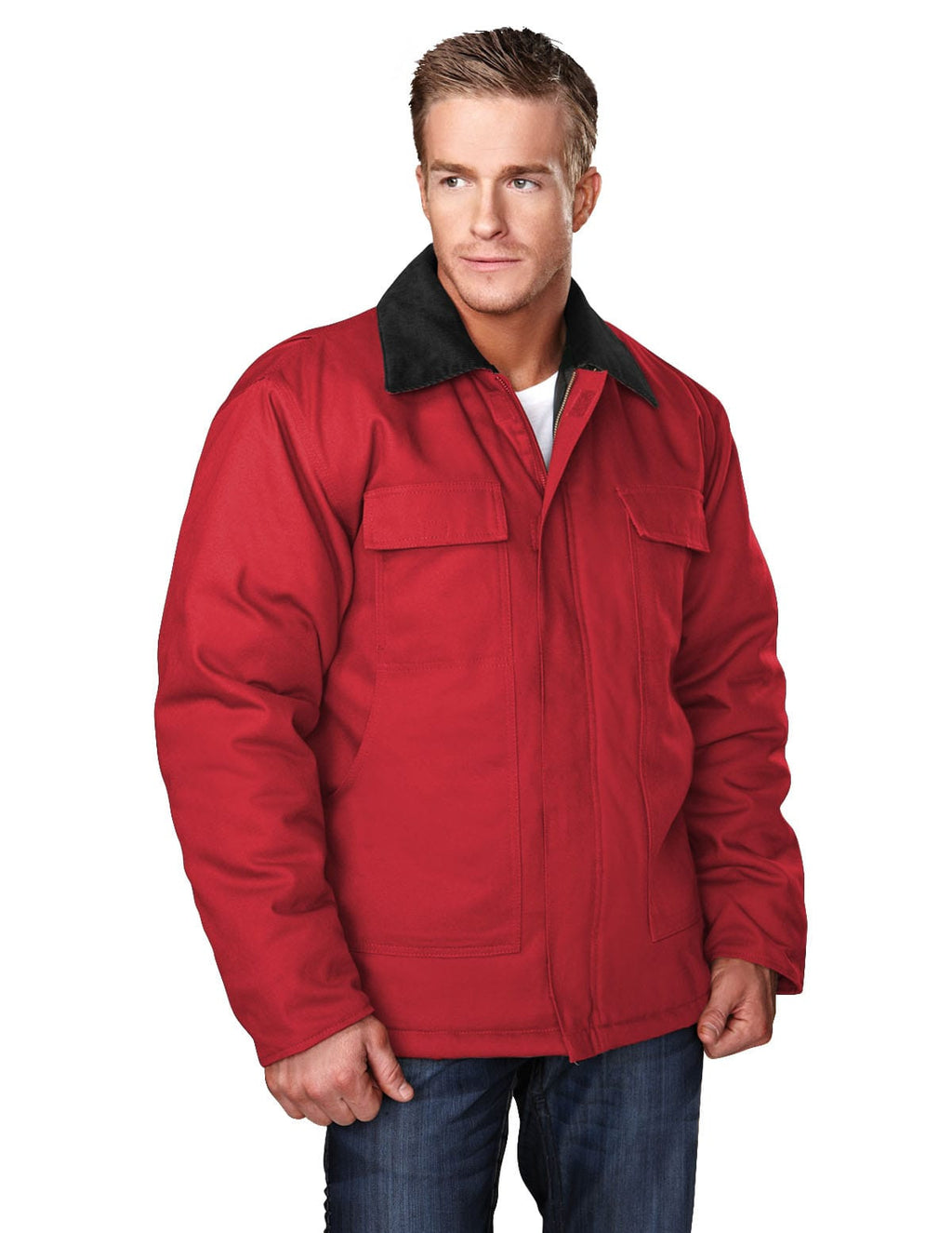 Tri-Mountain Hip-Length Canvas Jacket-4