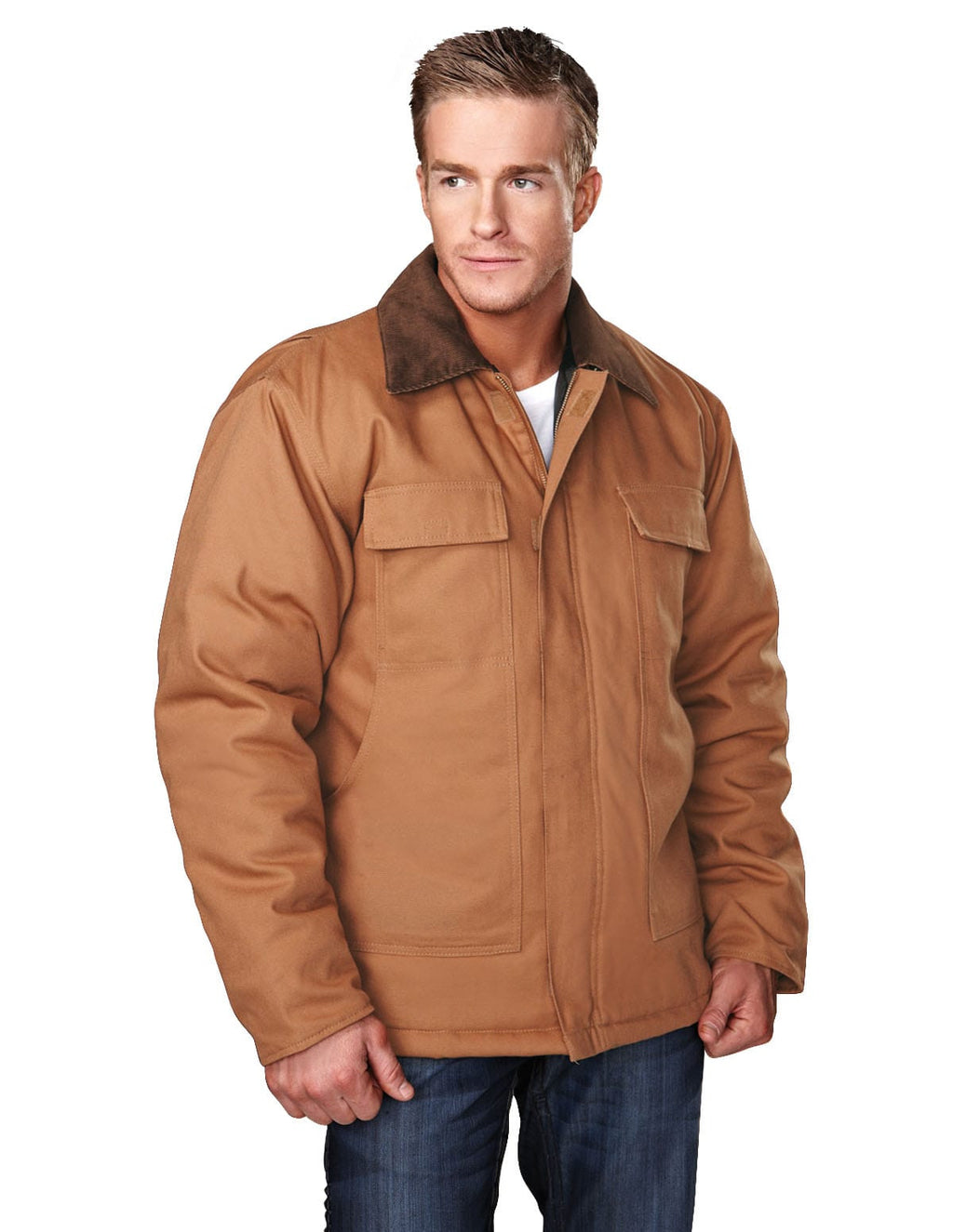 Tri-Mountain Hip-Length Canvas Jacket-1
