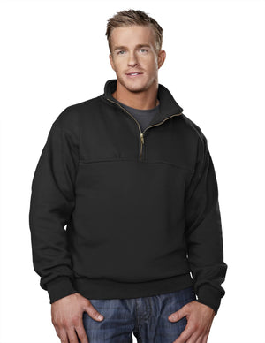 Tri-Mountain 12oz 1/4 Zip Emt Style Pullover Sweatshirt