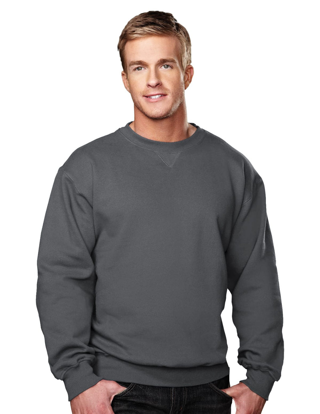 Tri-Mountain 10oz Heavyweight Crew Sweatshirt-2