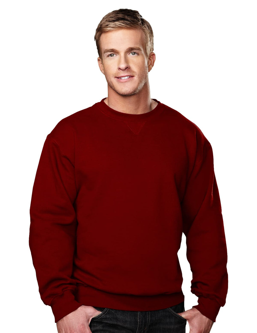 Tri-Mountain 10oz Heavyweight Crew Sweatshirt-7