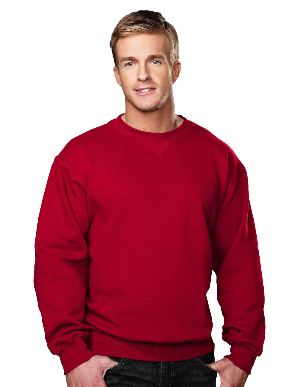 Tri-Mountain 10oz Heavyweight Crew Sweatshirt-3