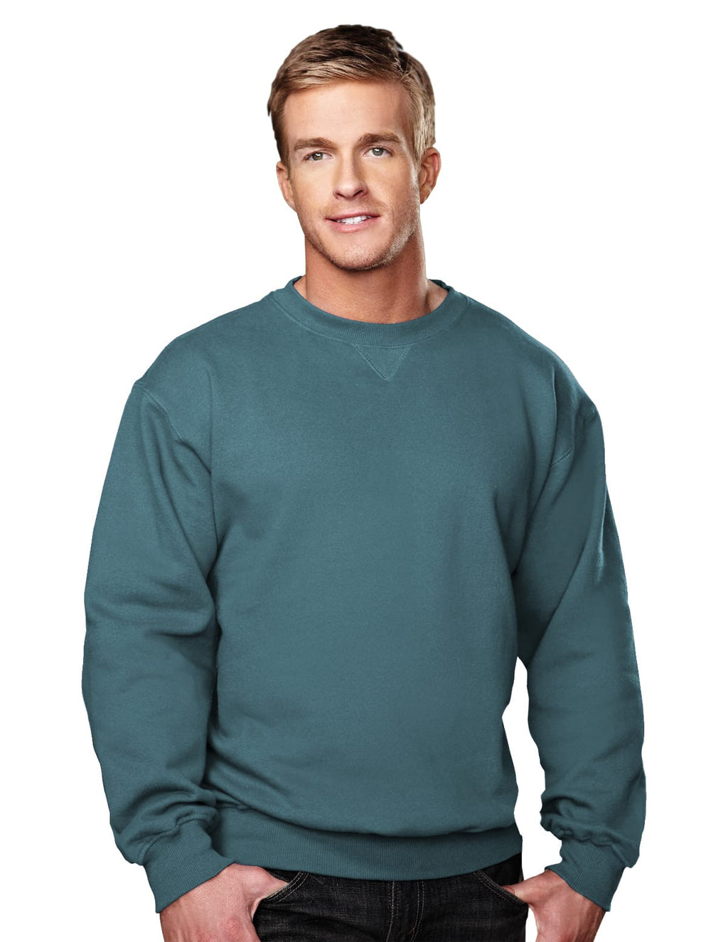 Tri-Mountain 10oz Heavyweight Crew Sweatshirt-5