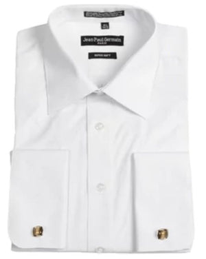 Men's Broadcloth White French Cuff Dress Shirt