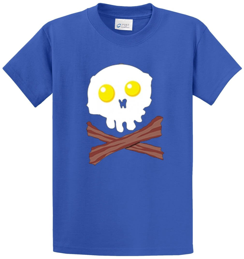 Bacon And Egg Face Printed Tee Shirt-1