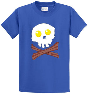 Bacon And Egg Face Printed Tee Shirt