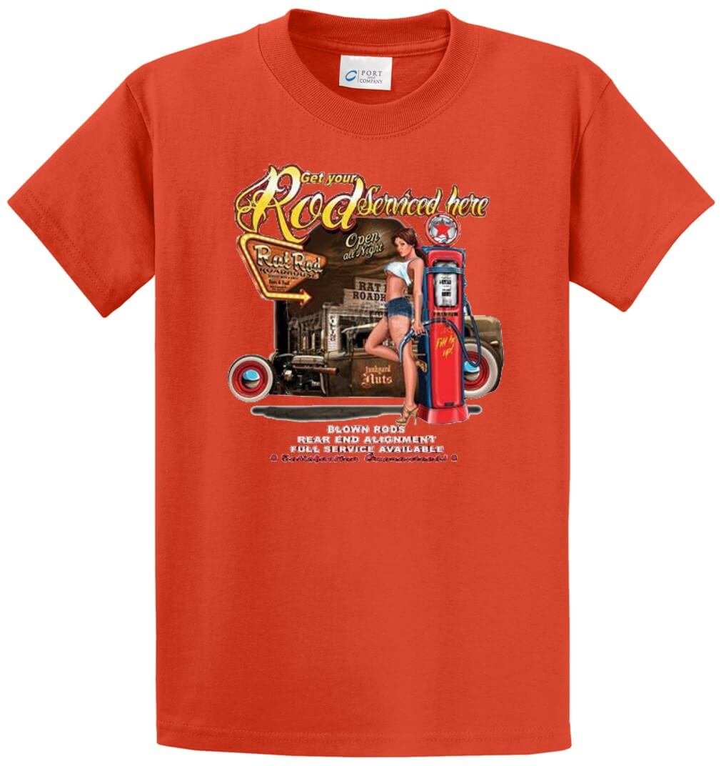 Get Your Rod Serviced  Printed Tee Shirt-1