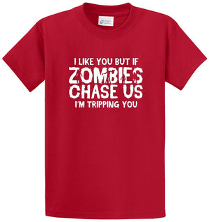 Zombies Chase Us Printed Tee Shirt