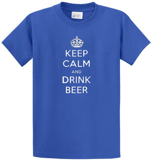 Keep Calm Drink Beer  Printed Tee Shirt
