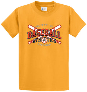 Baseball Athletics Division Printed Tee Shirt