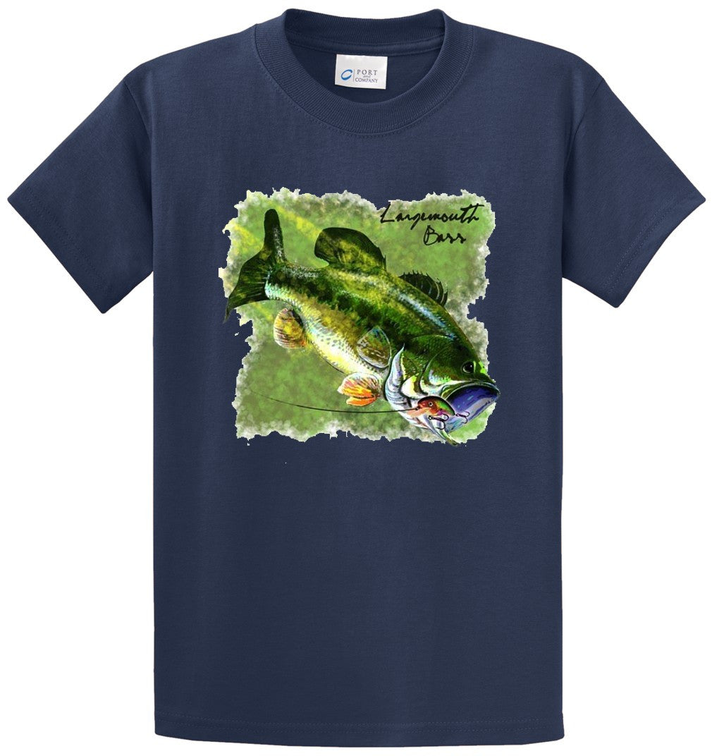 Largemouth Bass 4 Printed Tee Shirt-1