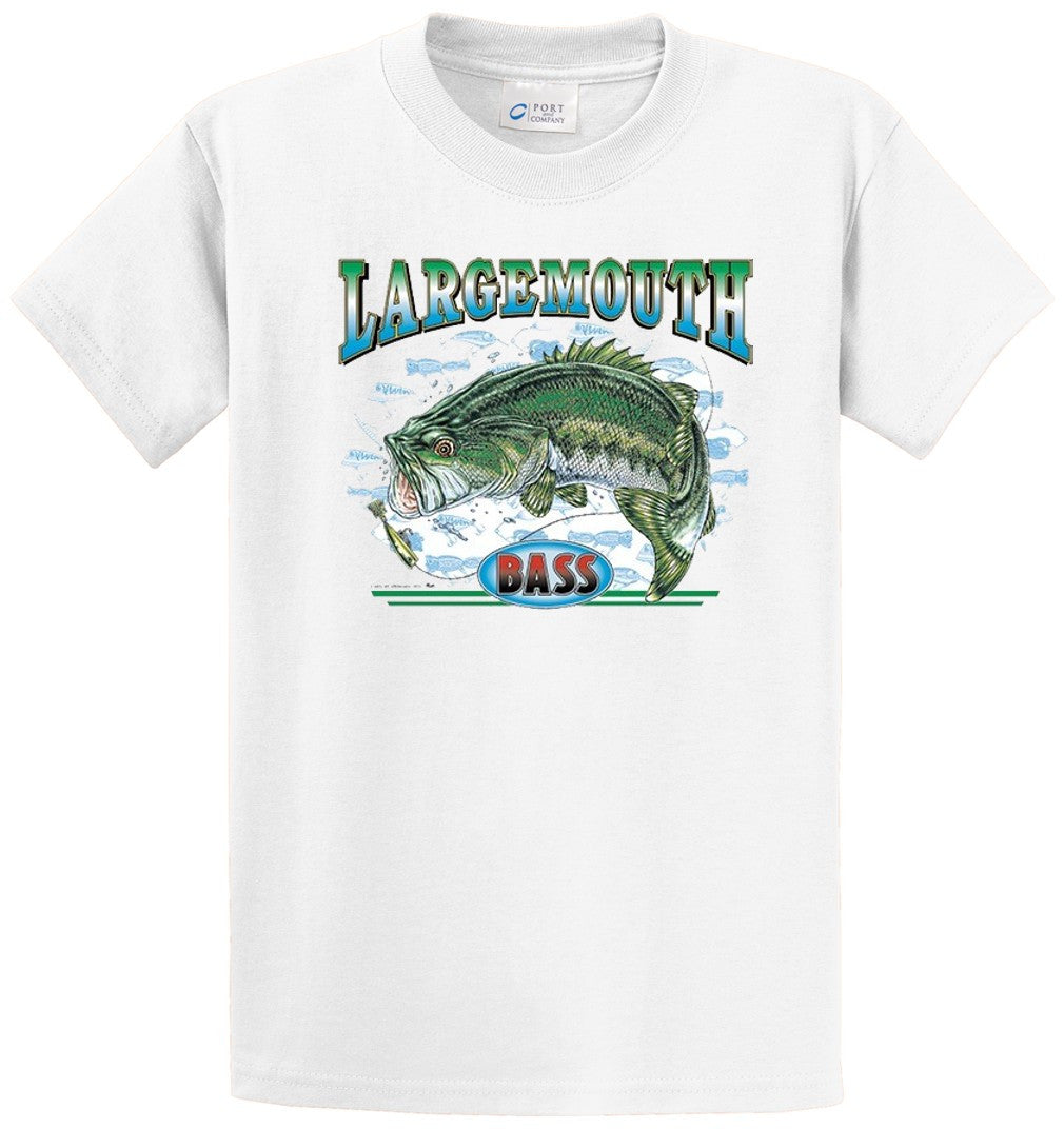 Largemouth Bass 3 Printed Tee Shirt-1