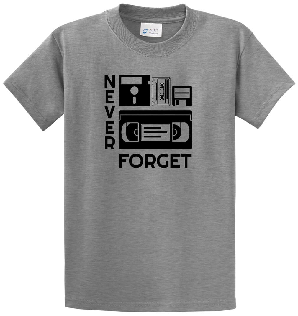 Never Forget Printed Tee Shirt-1