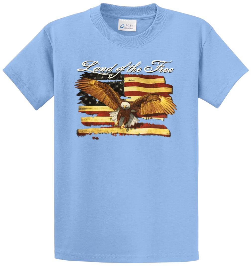 Land Of The Free Printed Tee Shirt-1