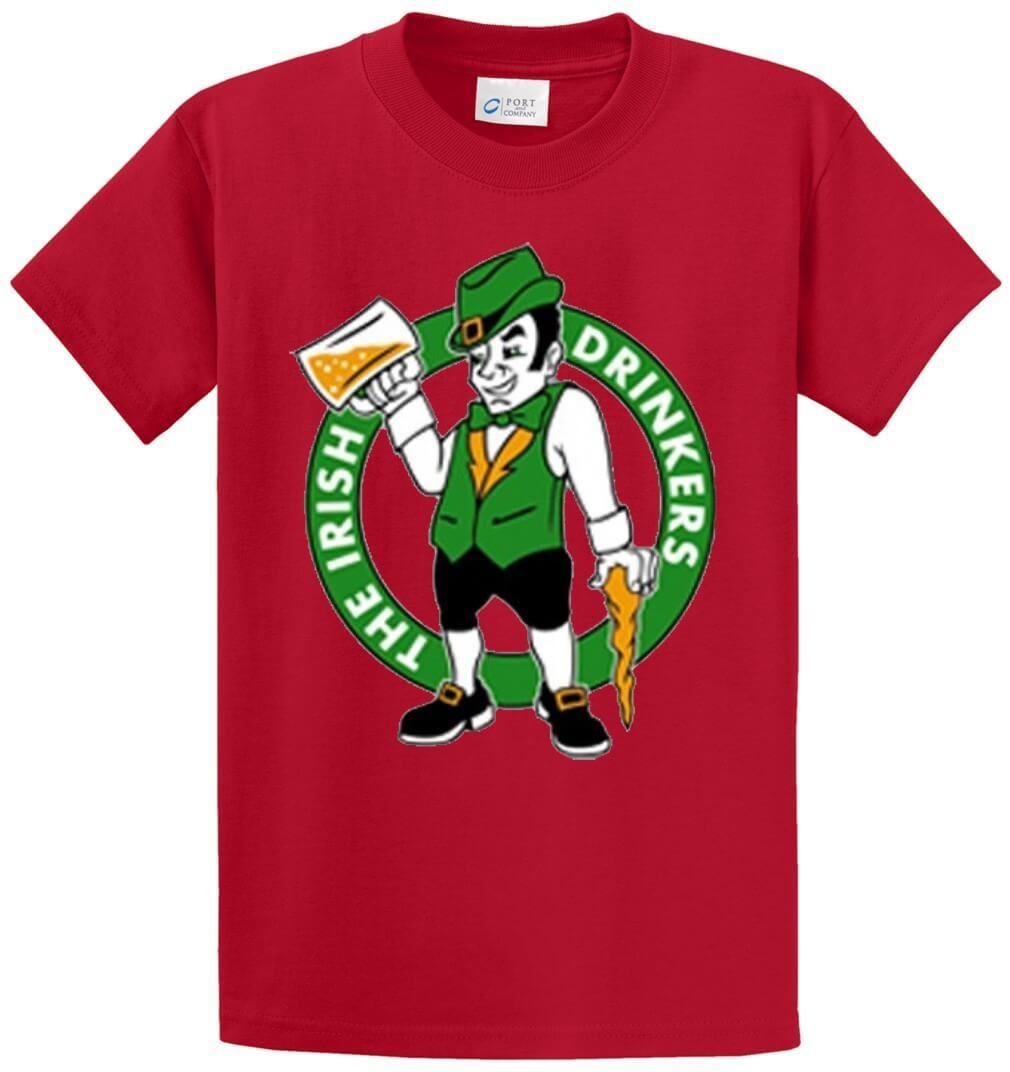 Irish Drinkers Printed Tee Shirt-1