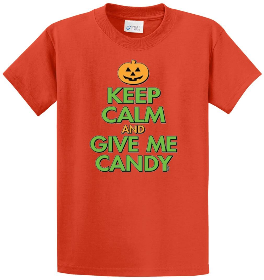 Keep Calm And Give Me Candy Printed Tee Shirt-1