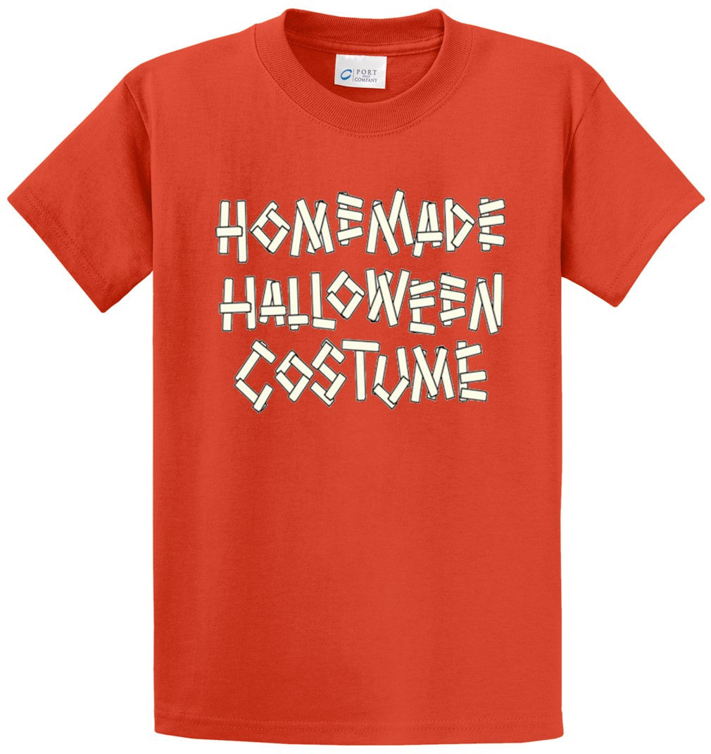 Homemade Halloween Costume Printed Tee Shirt-1
