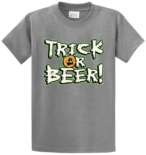 Trick Or Beer Printed Tee Shirt