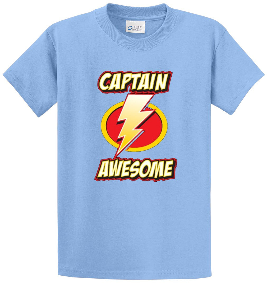 Captain Awesome Printed Tee Shirt-1