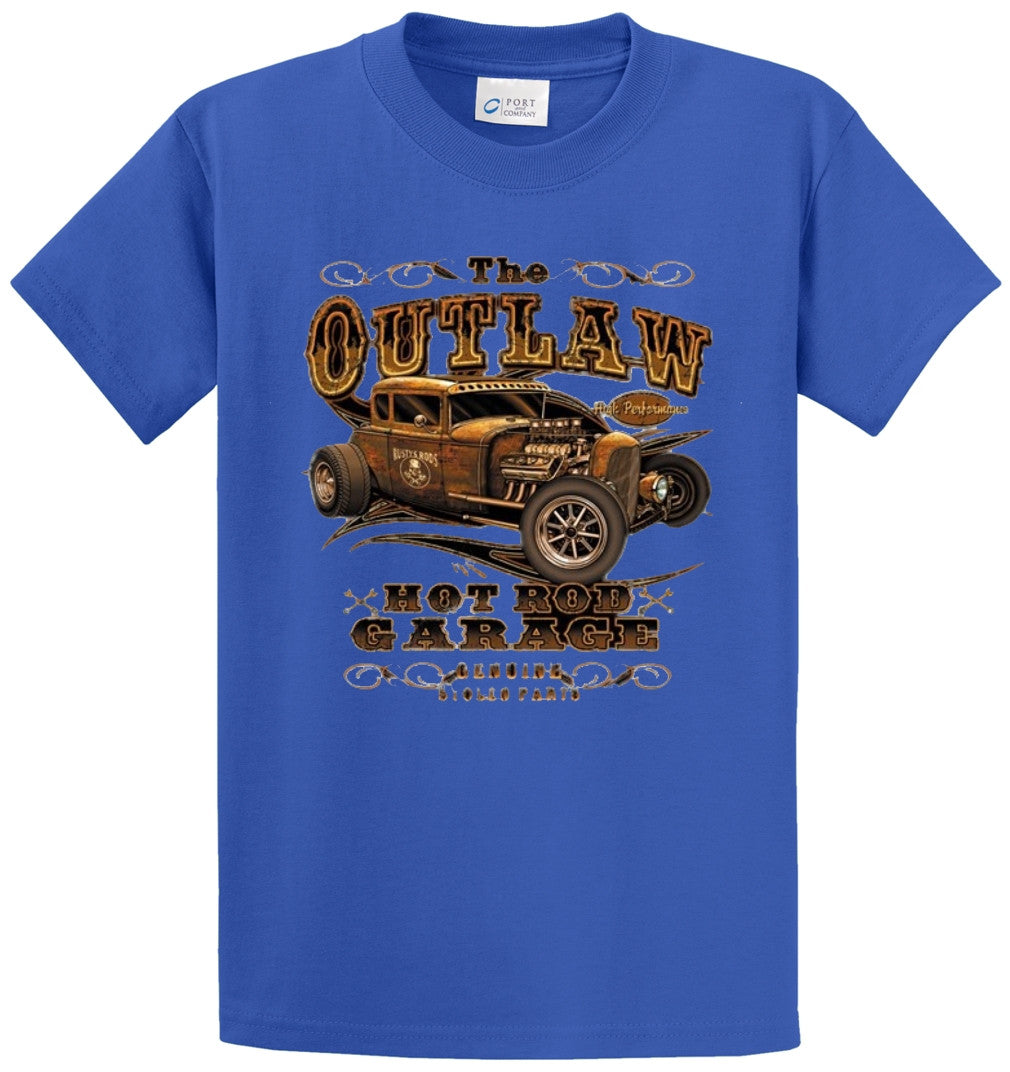 The Outlaw Hot Rod Garage Printed Tee Shirt-1
