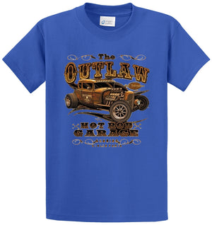 The Outlaw Hot Rod Garage Printed Tee Shirt