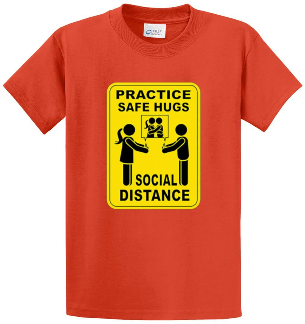 Safe Hugs - Social Distance Printed Tee Shirt-1