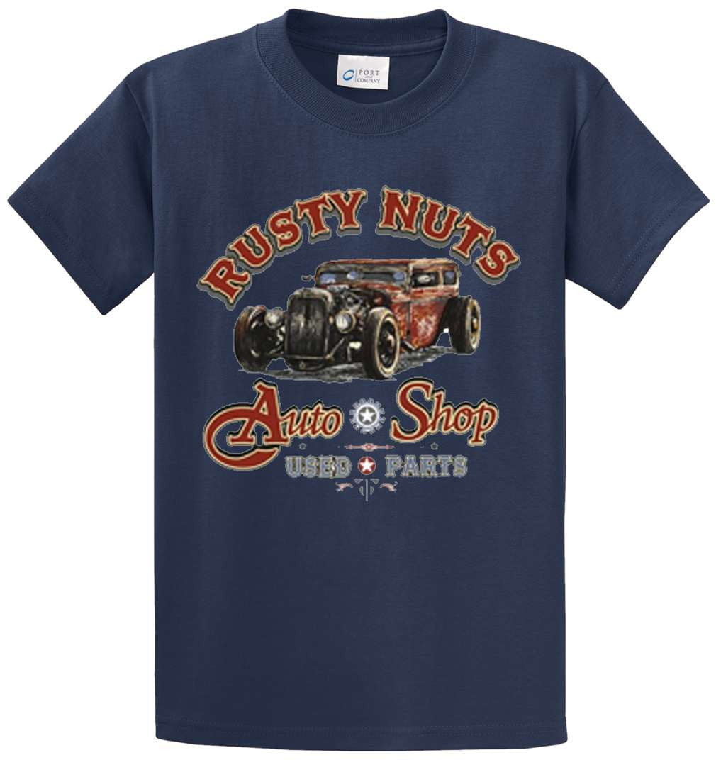 Rusty Nuts Auto Shop Printed Tee Shirt-1