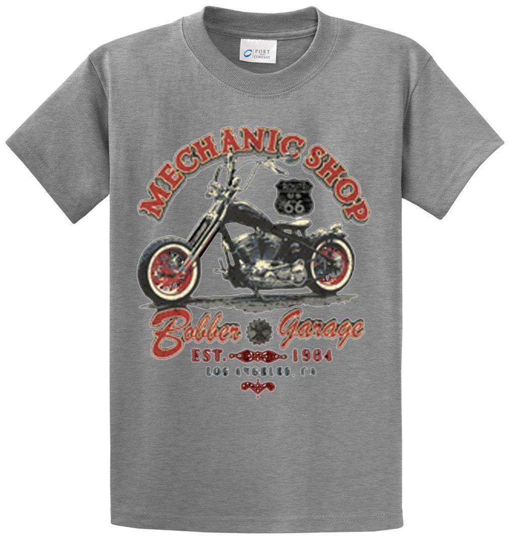 Mechanic Shop Printed Tee Shirt-1