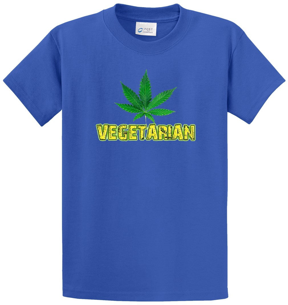 Vegetarian Printed Tee Shirt-1