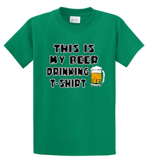 Beer Drinking Shirt Printed Tee Shirt