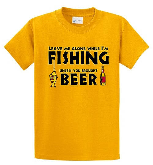 Leave Me Alone-Fishing Printed Tee Shirt-1
