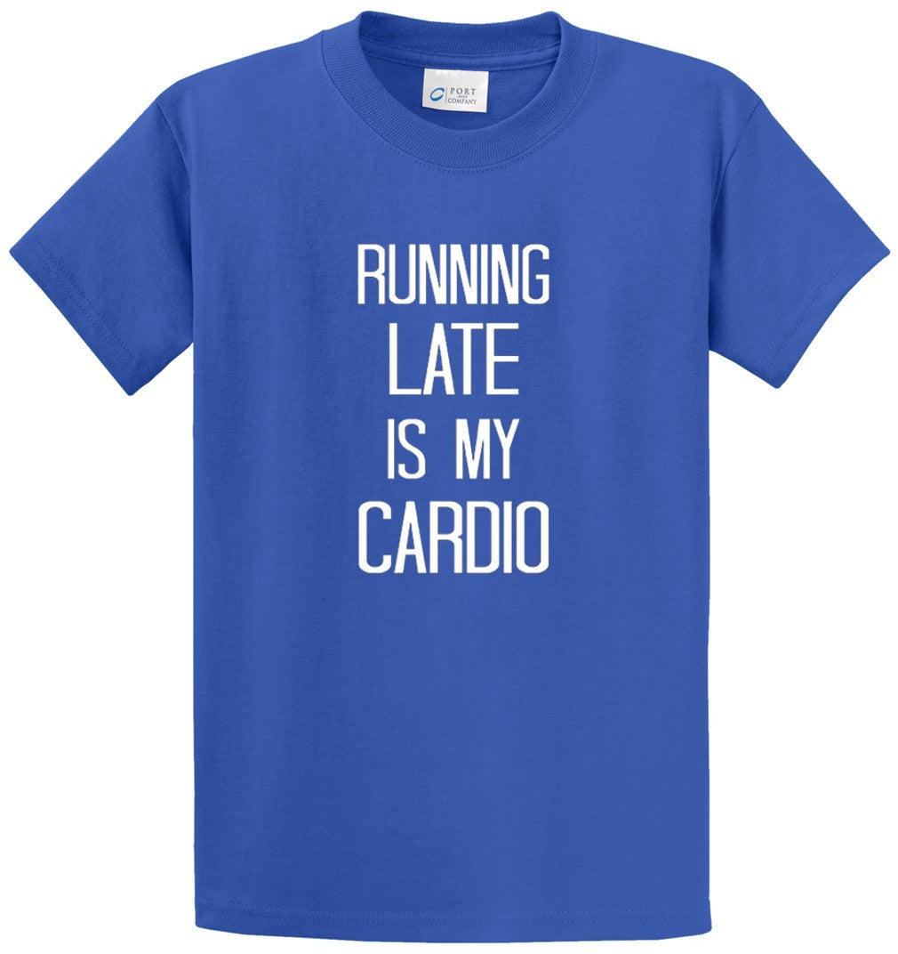 Running Late Printed Tee Shirt-1