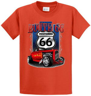 Route 66 Hot Rod Printed Tee Shirt